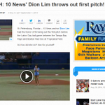 RT @DionLimWTSP: So...how did my first pitch at todays #Rays game go? http://t.co/xuuvf8TyQG @wtsp10news 6pm for full recap! #wtsp http://t.co/T9I6z6i2a1