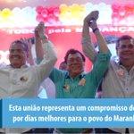 Nossa união representa a luta por dias melhores para o povo do Maranhão. Avante \o @FlavioDino @robertorOficial http://t.co/gsbQw2fYNa