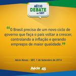 RT @ivanmell: Crescer de modo sustentável: está é uma das propostas de @AecioNeves para o Brasil. #SomosMaisAecio http://t.co/5tf69c5k1X