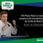 """RT @AecioNeves: """"O Plano Real é o maior programa de transferência de renda do Brasil"""", Aécio #SBT #EquipeAN #SomosMaisAecio http://t.co/ispBe7fT9j"""