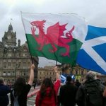 RT @patronsaintofca: Thanks to our Welsh Cousins for all their support! Diolch yn fawr, Cymru am byth! @yeswales #indyref #VoteYes http://t.co/aqo2XIIskv