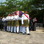 MH17: Casket bearing remains of Captain Wan Amran Wan Hussin carried to burial ground in slow march. http://t.co/fMXfVrP3tk