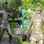 Racket missing! Tennis star Li Nas bronze statue in hometown C Chinas Wuhan vandalized (web photos) http://t.co/7NQdoFtGgr