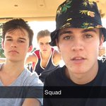 RT @sammywilk: Squad pic from snapchat @iamKennyHolland @JackJackJohnson http://t.co/F8zpqea6IX