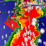 RT @TampaBayWeather: On now LIVE with Tornado Warning. Waterspout detected on radar. No reports of any type of damge. Stay tuned http://t.co/Zp9ejLuHAZ