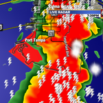 On now LIVE with Tornado Warning. Waterspout detected on radar. No reports of any type of damge. Stay tuned http://t.co/ZtrOLTfCxM