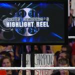 "RT @WWEUniverse: ""Here I am Randy .... DROP ME!"" - @WWERomanReigns #RAW #HighlightReel http://t.co/R8yFVujLTS"