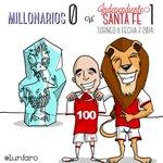 RT @Lunfaro: FPC 2014-2! Liga Postobon! Fecha 7 @MillosFCoficial 0 - 1 @SantaFe !! GOL 100 DE @chipakero #LeónToons http://t.co/VEyfD7AHOZ