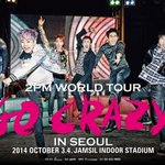 2PM ワールドツアー「2PM World Tour GO CRAZY」ポスター http://t.co/A67nxkcrwC