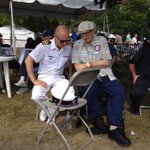 CO @HMCS_York speaks with #Veterans during the annual @TorontoAirshow, next door to the @RCN_MRC home in #toronto. http://t.co/cCjBPN4oJl