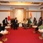 Shri Banri Keida, President of Democratic Party of Japan, calls on the PM, Shri @narendramodi #NaMoInJapan http://t.co/4HVJyESf2M