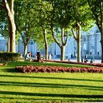 Uno de los sitios más fresquitos de #Madrid durante los meses de verano son los jardines de la #PlazadeOriente. http://t.co/y4GlzgBqsx