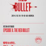 RT @bts_bighit: BTS 2014 LIVE TRILOGY : EPISODE II. [THE RED BULLET] #방탄소년단 단독 콘서트 팬클럽 선예매가 오늘 밤 8시에 진행됩니다! http://t.co/5xKu6Zt4Wf http://t.co/0WaDy37yhc