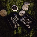 WARNING: Do not place @CAH Condoms Against Humanity in the same pocket as promo buttons. #PAX http://t.co/0PcO2nTgQG