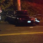 PHOTO: @SeattlePD patrol car involved in crash at Highland Park Wy SW & W Marginal Wy S. Officer extricated. http://t.co/ne0GofCBrh