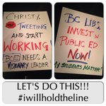 RT @MmeNero: Picket signs are ready to go! Lets do this! #iwillholdtheline for a better supported #bced for ALL students http://t.co/fzoPZWbP0D