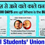 """""""@nsui: 100 days of Modi Government are up! Where is the black money? http://t.co/HCF21kkTkc"""" #100DaysIndiaPays"""
