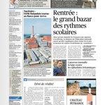 RT @Le_Figaro: La #une : rentrée - le grand bazar des rythmes scolaires >> http://t.co/AH8xetUeQq http://t.co/7lKn6jCfgy