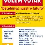 "RT @ANC_SFxI: Acte unitari ""El #9N2014 volem votar. Decidimos nuestro futuro"" el 6 de setembre http://t.co/BdV6agVdE0 http://t.co/FTZ3t2mykz"
