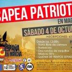 El 4 de Octubre, Capea Patriota de las Juventudes de La España en Marcha, en donde se quemarán trapos separatistas http://t.co/qVqBDoMwKH