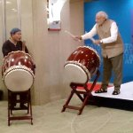 #Watch #Modi showing off his drums skills here: http://t.co/rb0eB45pMR http://t.co/gHFcYSBY7E