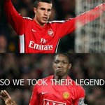 #tehlulz RT @sidchan: You take our legend RVP so we take your LEGEND #MUFC #GGMU #AFC #COYG http://t.co/jPj89L0Pc9