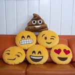 Ha! I tweeted these were Emoji cookies but theyr PILLOWS! The Emoji poo snuggle pillow is still disturbing 2me tho. http://t.co/kygd5STMUR