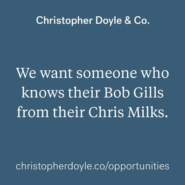 Designers! We are hiring at Christopher Doyle & Co. —  http://t.co/grsT96CrZU http://t.co/MH3mve8oek