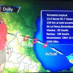 #Alerta Ubicación actual y posible trayectoria de la tormenta tropical Dolly http://t.co/Qc4sxg7dO2