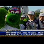 Great way to start the day! RT @FOX29philly @Phillies Phanatic photobombs Broomall-Newtown Champs on @Good_Day_Philly!http://t.co/kYK3DjuCGO