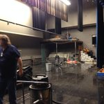 #Bartlesville #stormdamage at Mid-High School, water leaking through holes in roof of auditorium @NewsOn6 http://t.co/lgDWeVLiv0