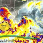 "Tormenta Tropical ""Dolly"" a 230 Km al Este de La Pesca, Tamps. con vientos de 85KMH a 12 horas de tocar tierra http://t.co/XyCrT3RTCR"