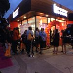 Just past 6am and the line still stretches around the block @DunkinDonuts http://t.co/AU3BgXjO9R