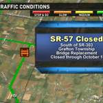 Good morning! Traffic alert for Lorain County drivers. Portion of SR-57 closed. Detours on @wkyc Traffic blog. http://t.co/qcgzVfgoNO