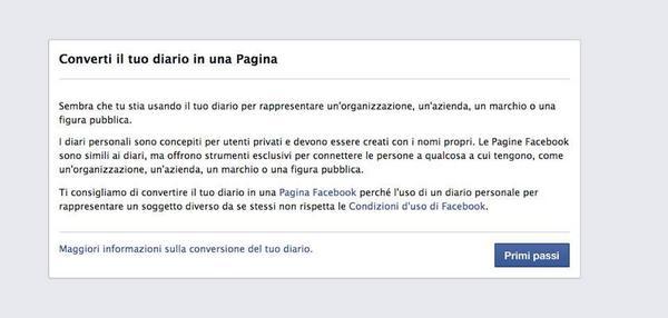 Il giorno che tanti social media qualcosa hanno sognato per mesi è finalmente giunto. Addio profili Fb aziendali. http://t.co/bit0MYX5YH