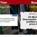 RT @ajaymaken: 5/n OMG! This U Turn on DIESEL PRICE was the sharpest one! Opportunist BJP! #100DaysIndiaPays http://t.co/ifwAYTpYiL