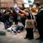 RT @HuffPostUKPol: Video captures pro-Union campaigner kicking woman at #indyref rally #ScotlandDecides http://t.co/lkRtxgqSjR http://t.co/yQwx6SqeIy