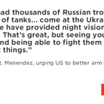 """Foreign Relations chair @SenatorMenendez urges US to send """"defensive weapons"""" to Ukraine army. @MorningEdition http://t.co/d0Ag4BDvJx"""