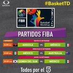 No te pierdas a las 6:20 a.m. Angola vs México en el Mundial de Basquetbol España 2014 por @micanal5 #BasketTD http://t.co/0KO0B1IhPA