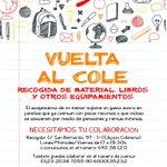 RT? Recogida de material escolar NECESITAMOS TU COLABORACIÓN #infancia #Madrid #vueltaalcole en @INCREFAM http://t.co/uK4qcHLpJ4