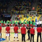 Previo al duelo México vs Angola se entonan los himnos de ambos países en el Mundial de Basquetbol #España2014 http://t.co/4NPLwEQjMq