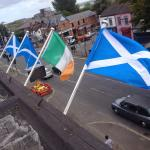 RT @rockbarbelfast: The flags are out for Scotland at The Rock Bar on the Falls Road in Belfast. We are backing a Yes on 18th September! http://t.co/qqHAAXS6ak