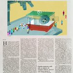 """Ilustración para @el_pais , """" Catadores de pildoras """", reportaje en el suplemento Domingo http://t.co/1HXy0uBQNK"""