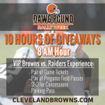 Enter to Win a VIP Browns vs. Raiders Experience >> http://t.co/QsWGLp6bHz #DawgPound Rally Week http://t.co/DMlTMqPZpe
