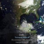 RT @chematierra: AVISO. Se forma la Tormenta Tropical #Dolly 230km al ESE de La Pesca Tamaulipas Vientos 85km/h Extremar Precauciones http://t.co/skonAEUqNZ