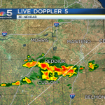 A cluster of storms in far southern sections of the #Chicago metro area slowly moving east at 7:20 AM. @nbcchicago http://t.co/fmYIFWYhHZ