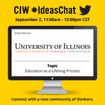 RT @vprillinois: Join us TODAY at 11am CT for @chicagoideas #IdeasChat! #UIllinois @Illinois_Alma @thisisUIC @UISedu @CorporateAtUofI http://t.co/uRDywkV01C