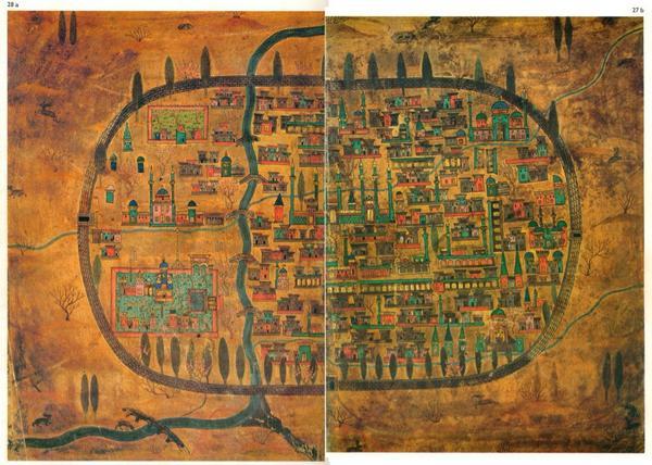 RT @HistoryNeedsYou: C16th map of Tabriz, Iran, made by the great Ottoman cartographer Matrakçı Nasuh. #history http://t.co/mEuAQFjRnQ