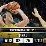Australia shot 50% from 3pt to provoke Lithuanias 1st defeat at #Spain2014 #AUSvLTU Boxscore http://t.co/fc1GlxcrAD http://t.co/8QTkGGHagG