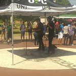RT @UNT_DSA: Also, there is a fantastic performance by Rhett Price, pop violinist, in the Library mall. Thanks to @UNT_UPC. #UNT http://t.co/KBKvLDchYz
